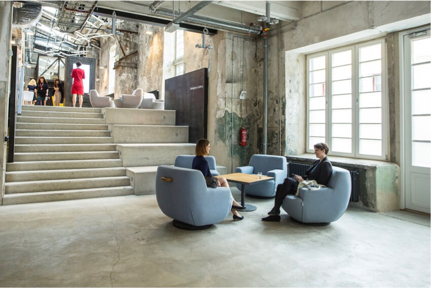A flexible work space of an architecture office
