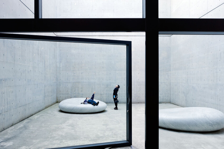 An Open Space in a Museum, Japanese Style Architecture
