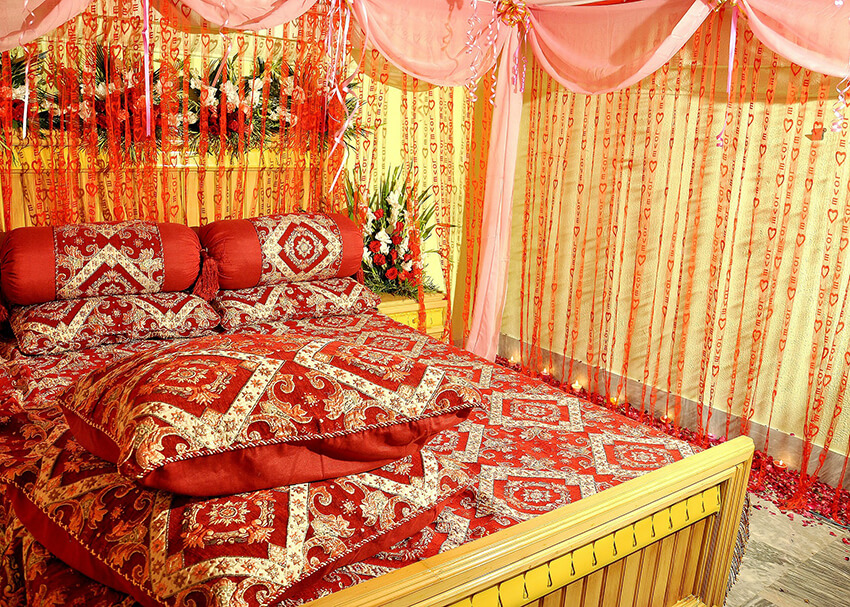 a Thai two-bed hotel room with warm colors in decoration