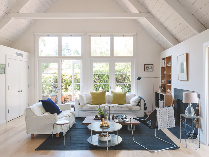 the white and blue theme in Interior architecture