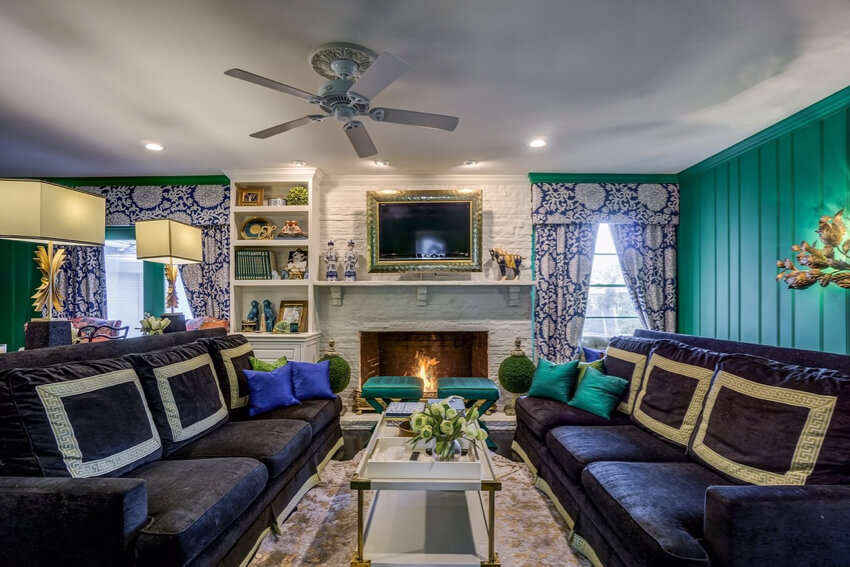 a colorful living room