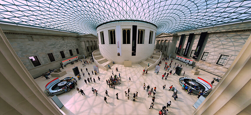 Queen Elizabeth II Great Court in the British Museum, London