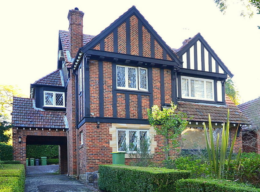A contemporary Tudor architecture house