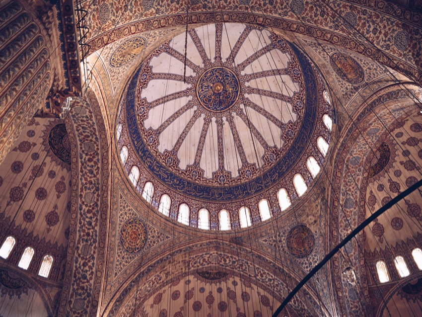 the Interior of Hagia Sophia mosque in Istanbul