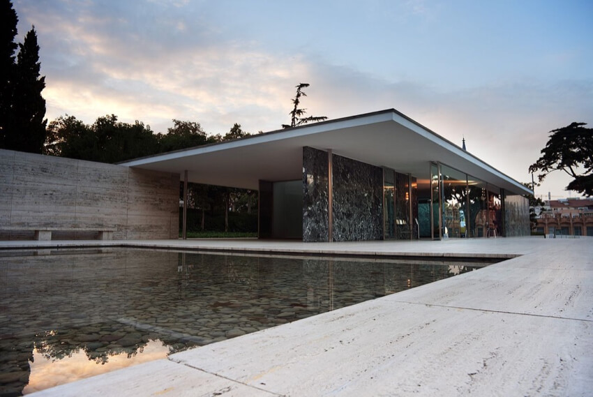 Barcelona Pavilion by Ludwig Mies van der Rohe in Barcelona