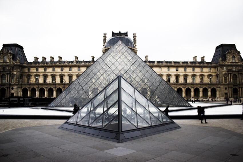 Le Grande Louvre by I.M. Pei at sunset