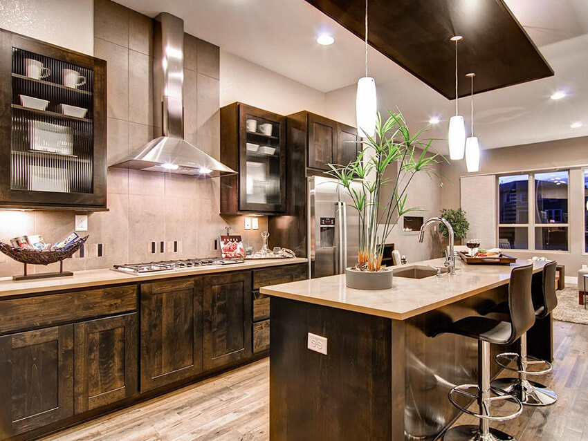 A kitchen with a modern look