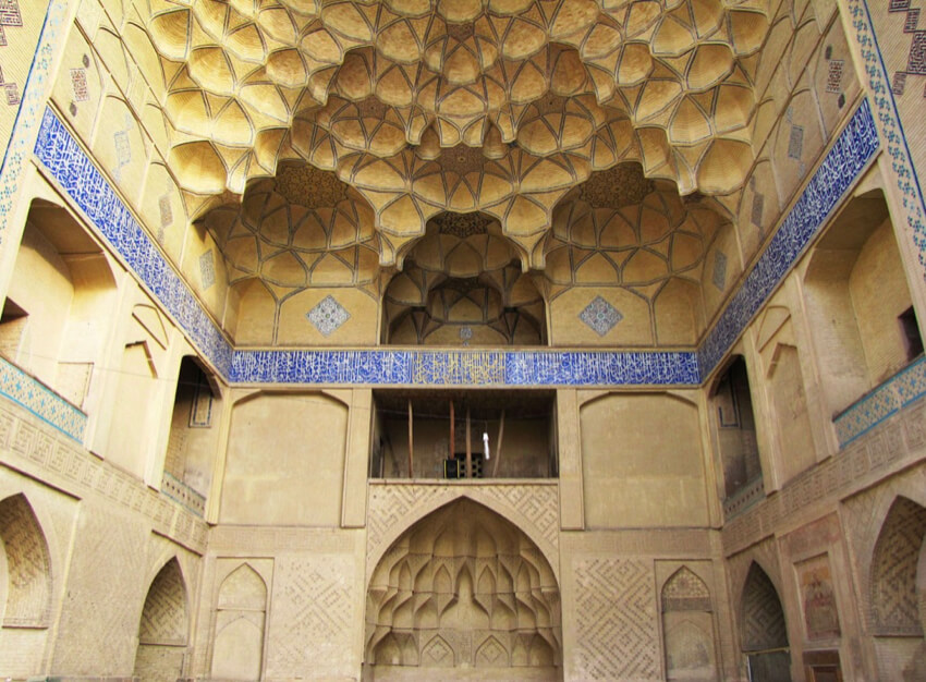 Calligraphic Tiles at Jameh Mosque of Isfahan