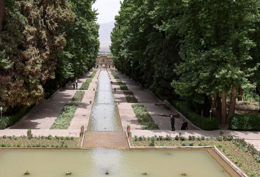 A Persian Landscape architecture in Mahan, Iran