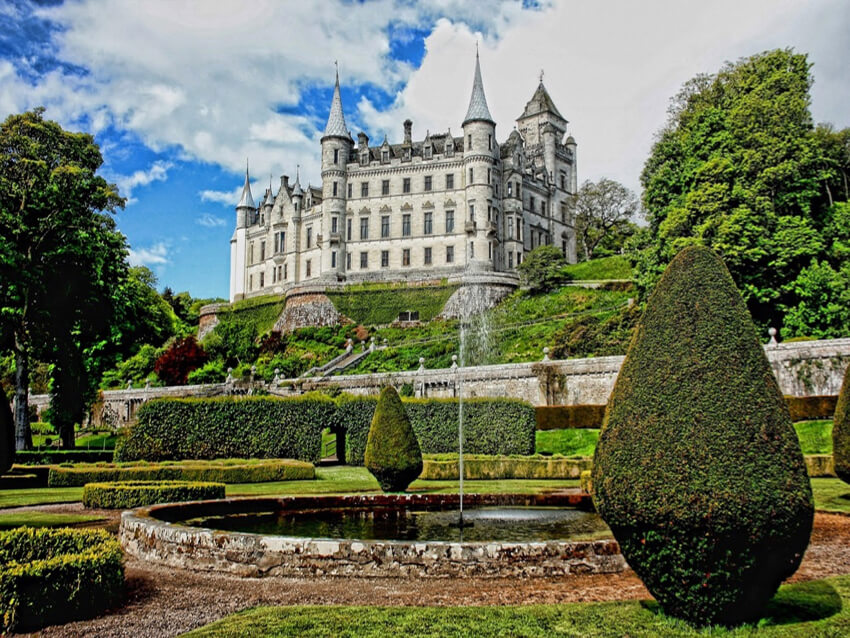 a Victorian castle and its Landscape architecture of
