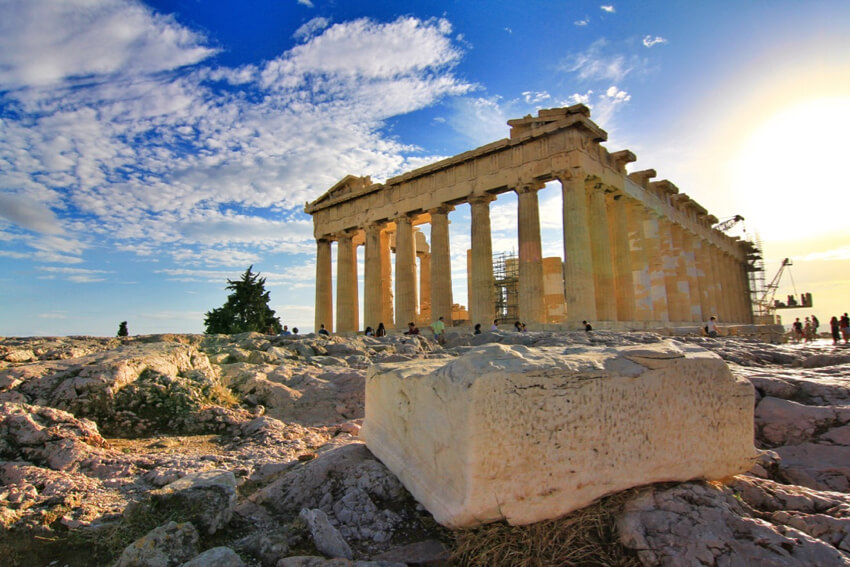 the Parthenon in Acropolis, Athens