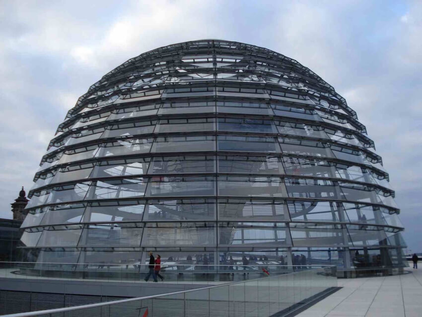 Reichstag dome over the German Parliament complex