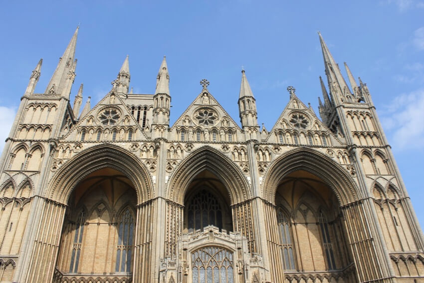 Peterborough cathedral in the UK