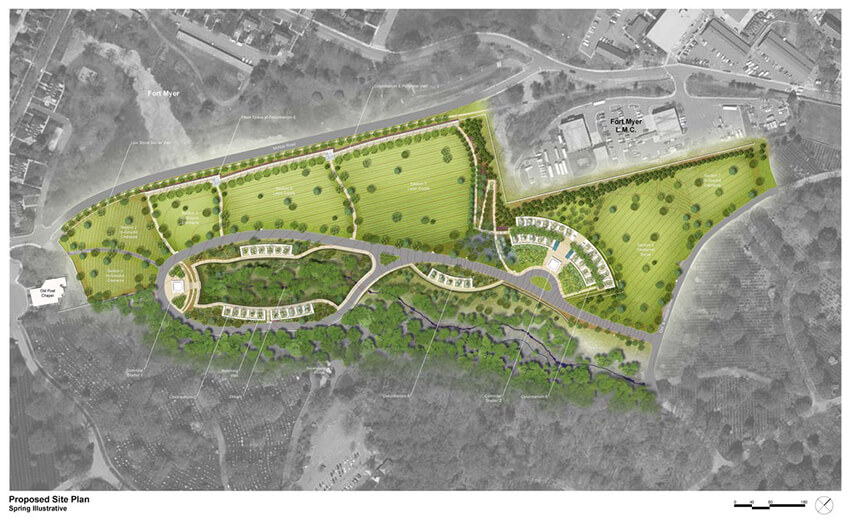 A site plan landscape view