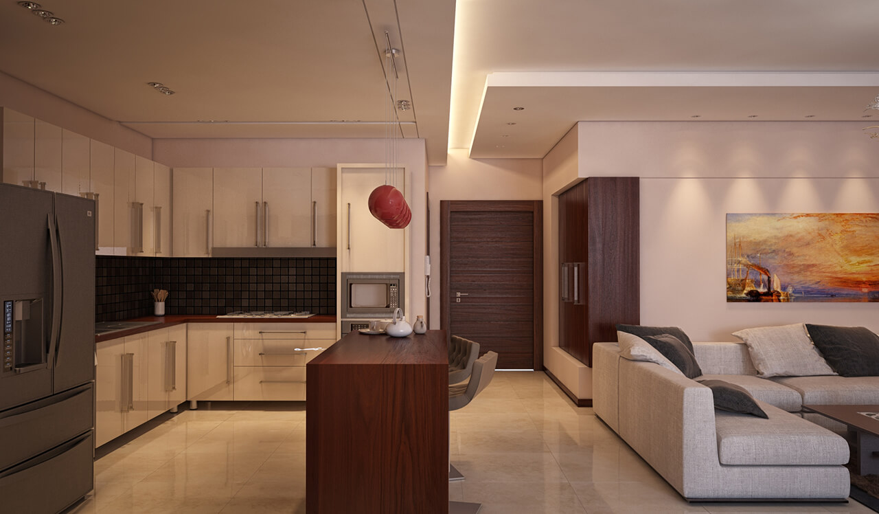 80 Square Meter Apartment Interior Design Project With An
