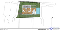 the second floor plan of a family villa project