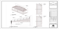 dimensions of the roofing support of a wooden pergola