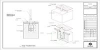 pergola concrete foundation, and post installation detail drawing