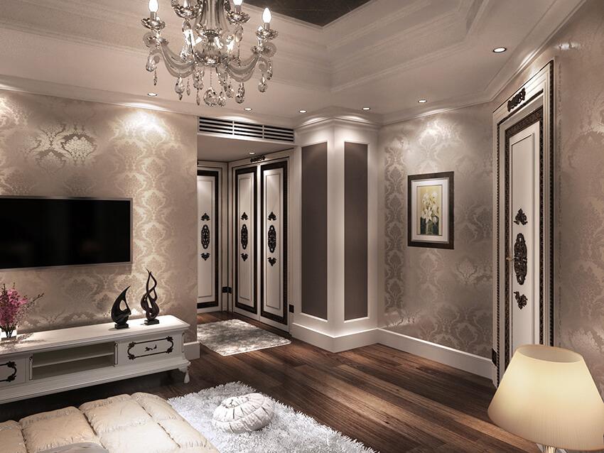 Classic Interior Design of a Large Apartment