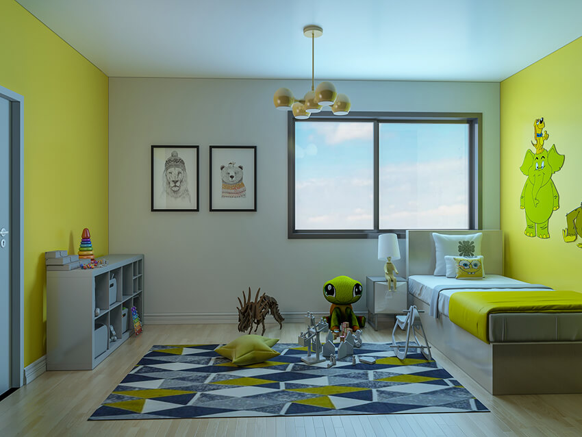 Colorful Child Bedroom Interior Design