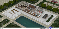 isometric plan of a two bedroom modern villa