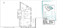 the plan of a small apartment