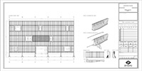 detailed drawings of the installation steps of a parametric facade