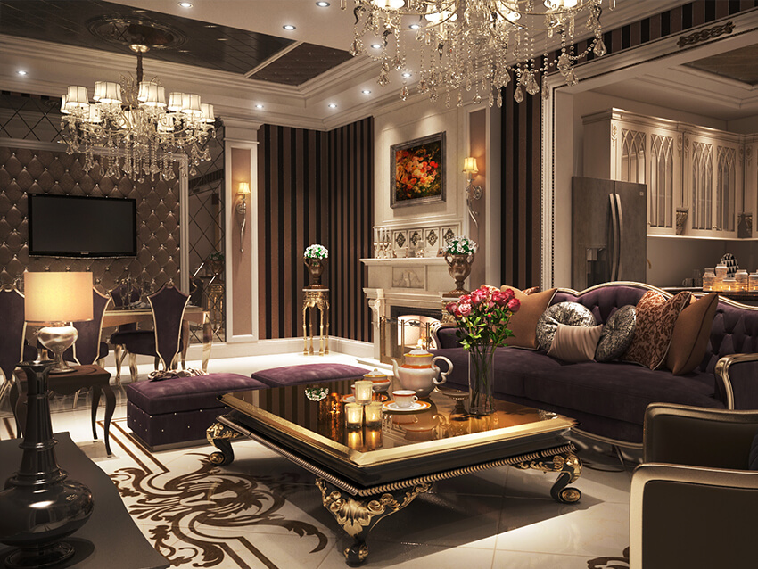 Luxurious Classic Living Room Interior Design