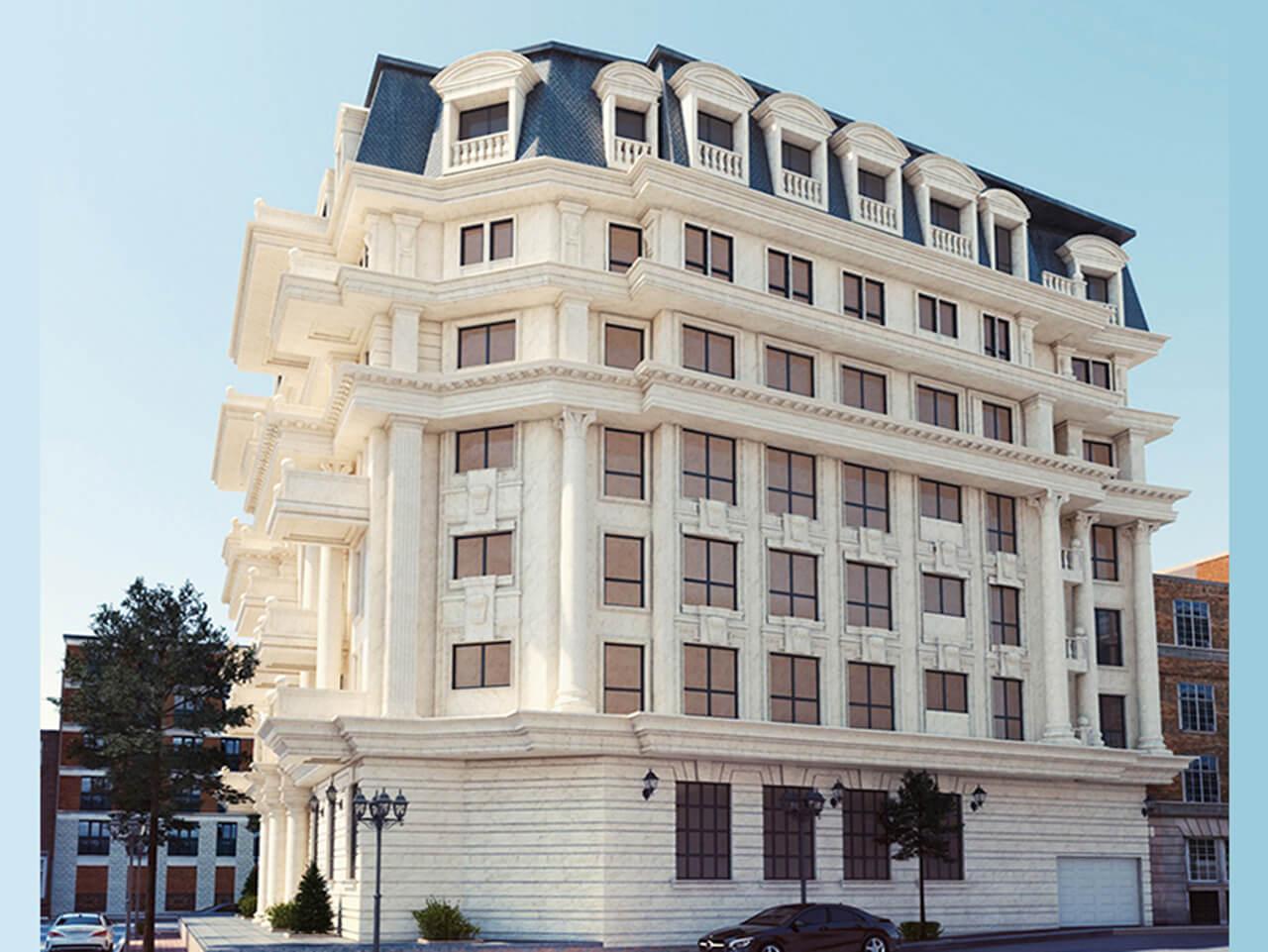 Luxury Apartment Façade Design in Classic Style
