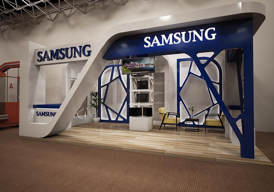 Modern Exhibition Stand Designs : Samsung modern exhibition stand design