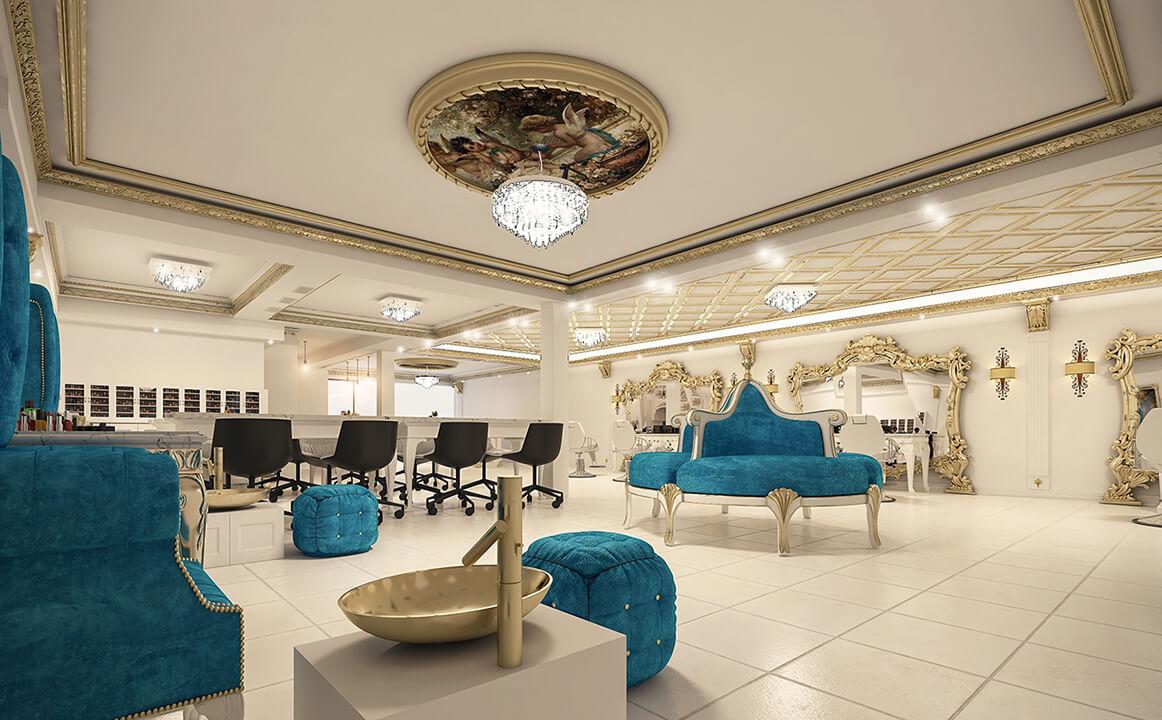 The Interior Design Of A Luxury Classic Bridal Salon