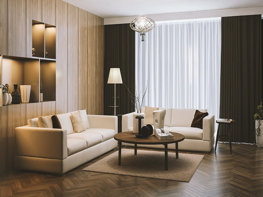 The Interior Design of a Small Modern Living Room
