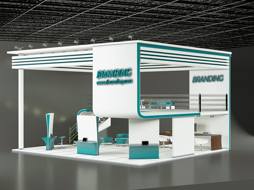 Exhibition Stand Architecture : Two story exhibition stand design