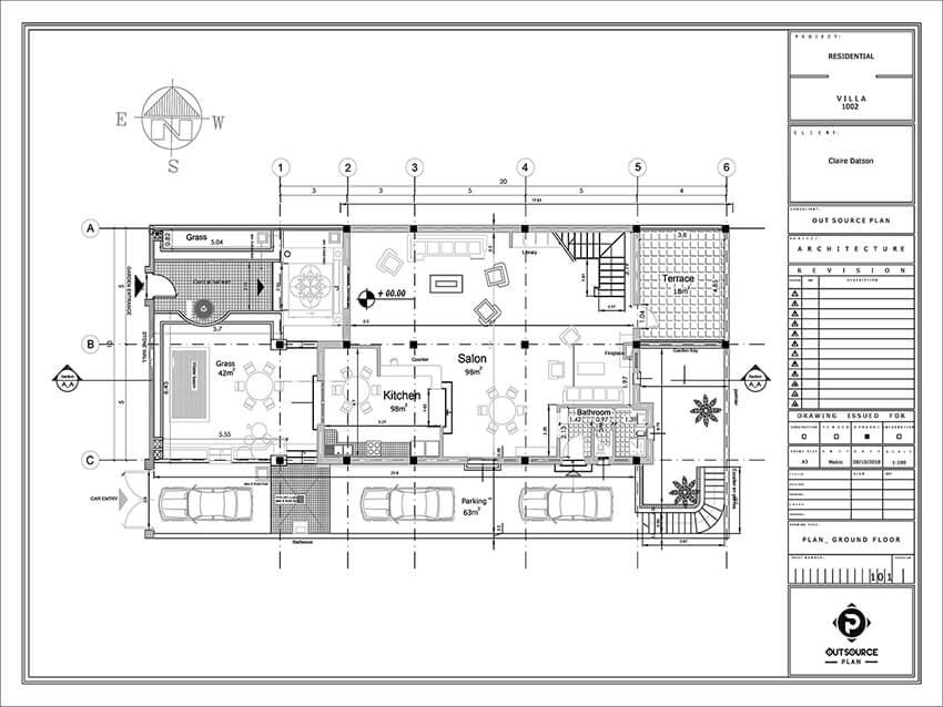 Villa Drawing; a Cad Conversion Project